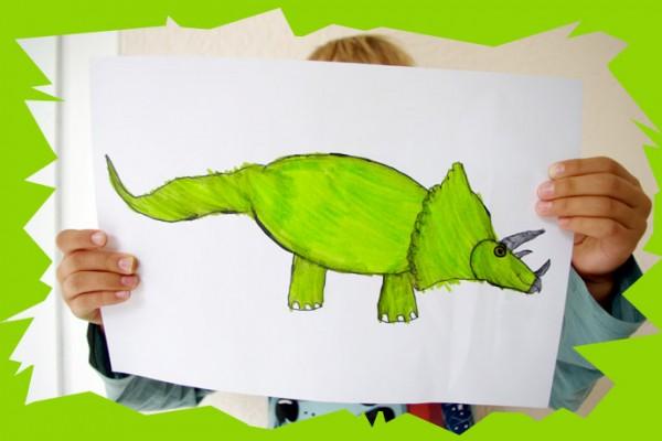 Apprends dessiner un tric ratops et les dinosaures tape - Dessiner dinosaure ...