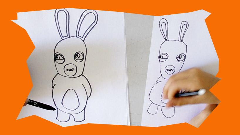 Voici une vidéo au nous allons vous apprendre à dessiner un lapin crétin étape par étape aux enfants
