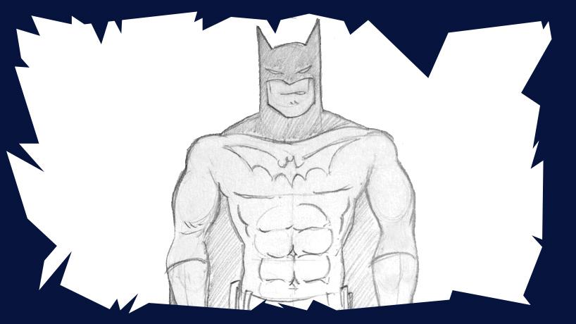 Voici un cours de dessin pour vous montrer comment dessiner batman le célèbre super-héros