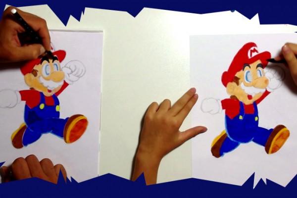 Ce tutoriel de dessin pour enfants vous donnent une technique pour dessiner mario le célèbre héros de jeux vidéo