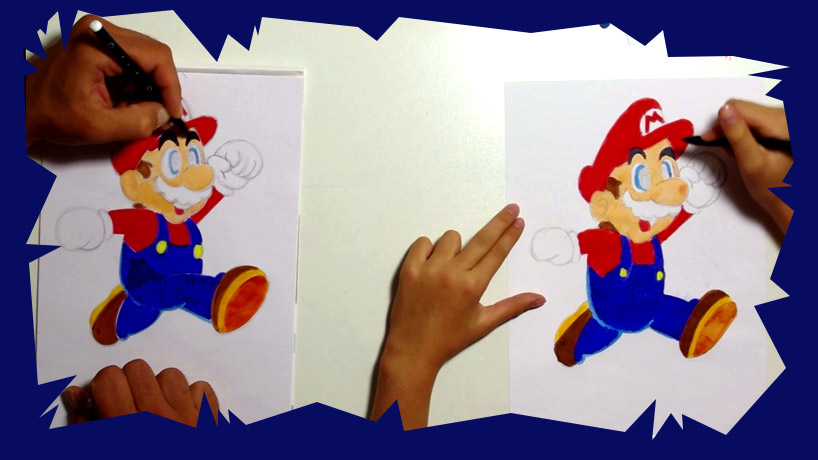 Technique Pour Apprendre A Dessiner Mario Pas A Pas Apprendre A