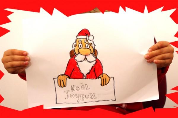 Voici un cours de dessin pour enfants pour apprendre à dessiner le Père Noël facilement