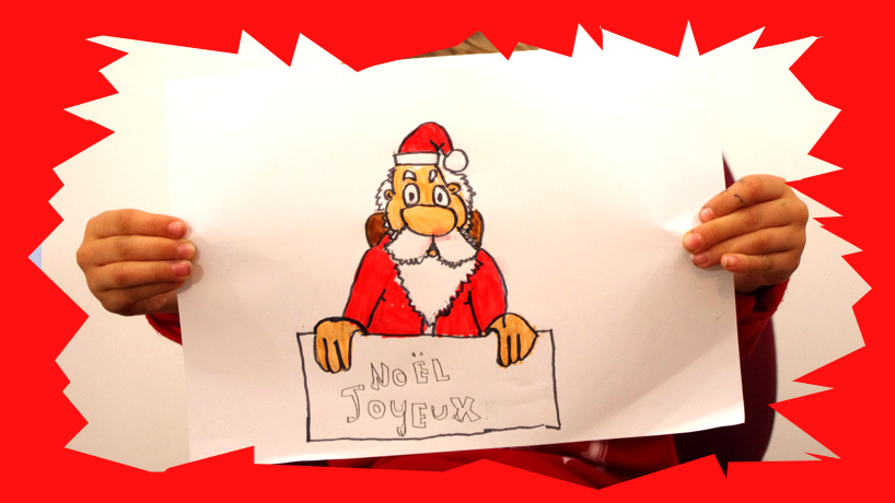 Cours De Dessin Pour Enfant Dessiner Le Père Noël Et Le