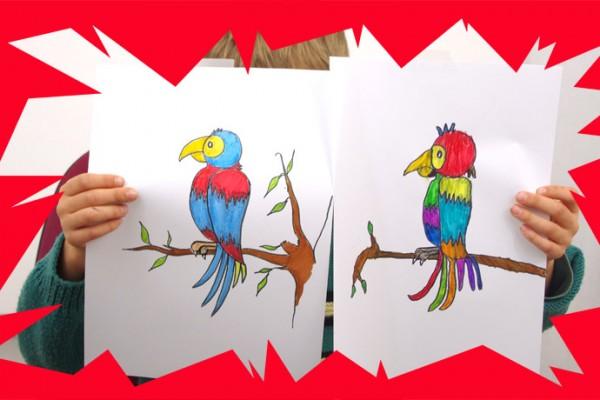 M thode pour dessiner un perroquet facilement et le - Comment dessiner un enfant ...