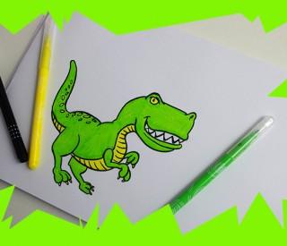 voici une méthode pour dessiner un t-Rex facilement et créer un dessin à colorier pour les enfants et les plus grands