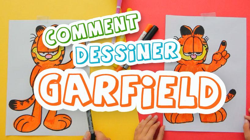 technique pour dessiner Garfield et faire un coloriage pour enfants
